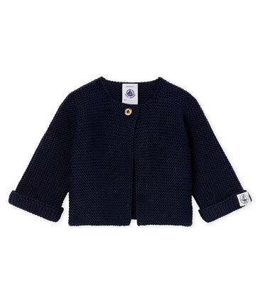 Cardigan baby van tricot 100% katoen blauw Smoking