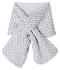 Echarpe bébé mixte doublée polaire gris Subway / blanc Marshmallow