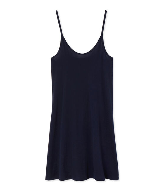 Chemise à bretelles femme en coton léger blauw Smoking