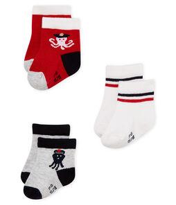Set van 3 paar sokken voor babyjongens