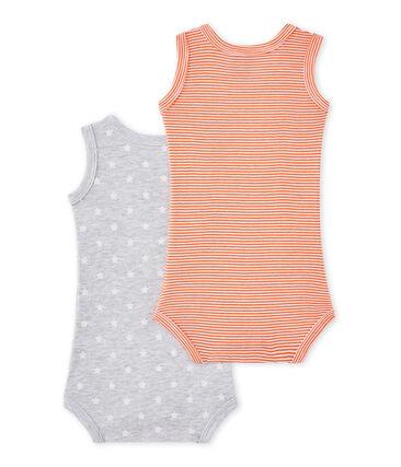 Set van 2 mouwloze body's voor babyjongens