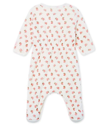 Fluwelen bodyjama babymeisje