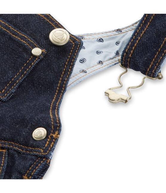 Salopette jurk van spijkerstof babymeisje blauw Jean