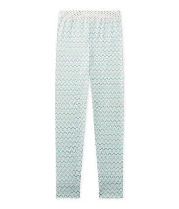 Mix & Match pyjamabroek voor meisjes wit Lait / groen Vert