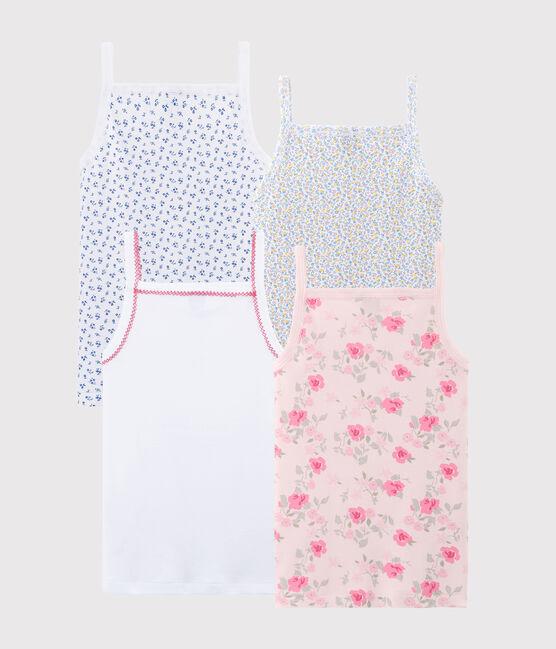 Verrassingstasje met 4 hemden met schouderbandjes voor meisjes set .