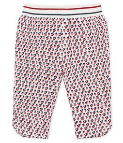 Babybroek met print in molton voor babymeisjes