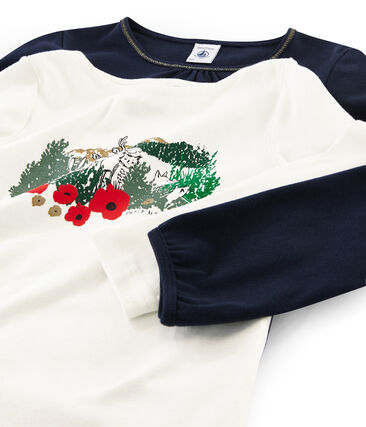 Lot de deux t-shirts enfant fille lot .