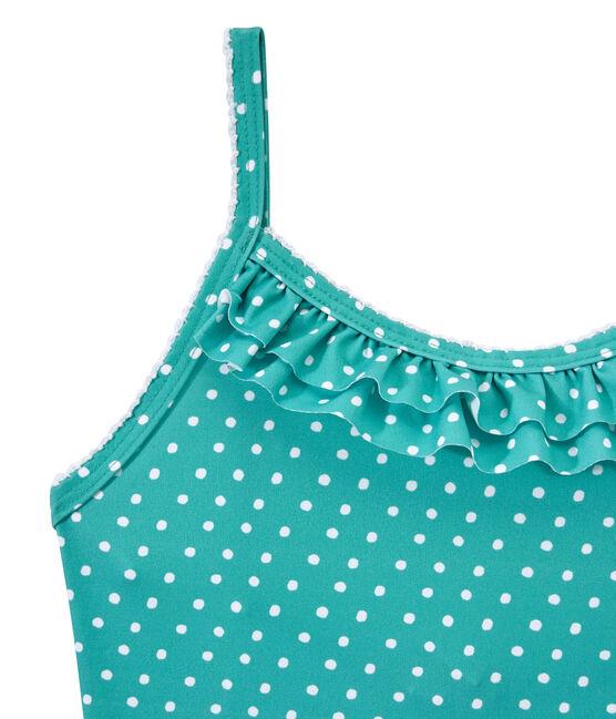 Meisjesbadpak met stippen groen Verde / wit Marshmallow