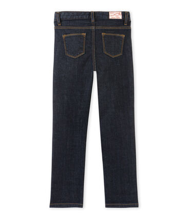 Raw denim meisjesjeans