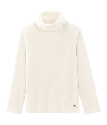 Sous pull meisjes wit Marshmallow / geel Or
