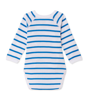 Gestreepte eerste body met lange mouwen voor babyjongens