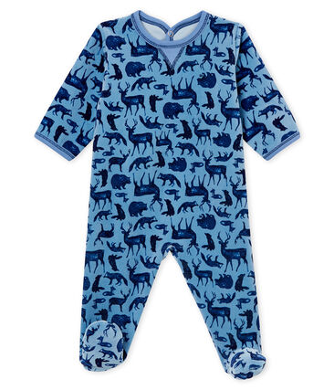Pyjama voor babyjongens blauw Alaska / wit Multico