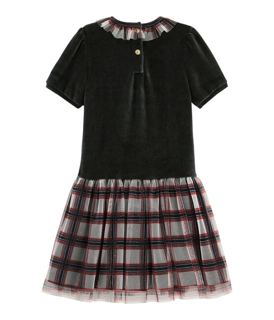 Robes manches courtes enfant fille noir Noir / blanc Multico