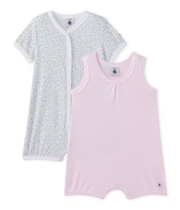 Set van twee korte pakjes voor babymeisjes