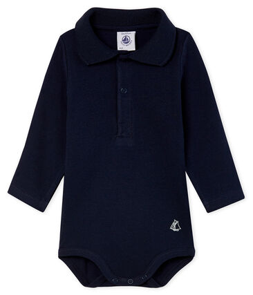 Body manches longues avec col polo bébé garçon bleu Smoking