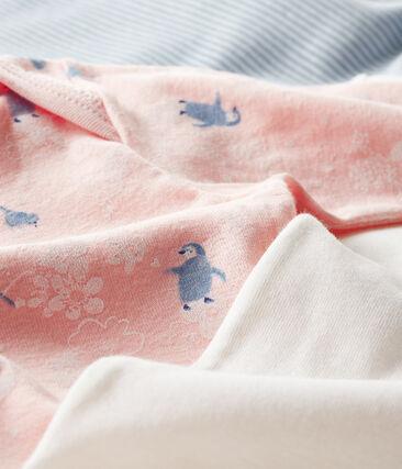 Drie rompertjes met lange mouwen voor babymeisjes set .