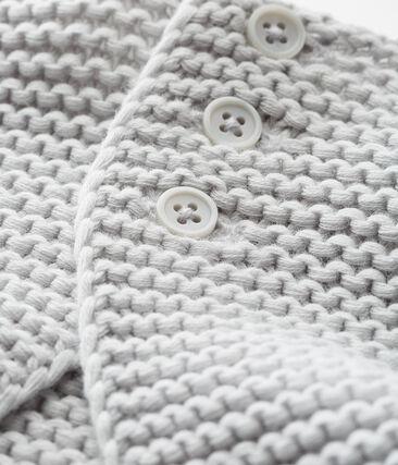 Cardigan point mousse bébé mixte