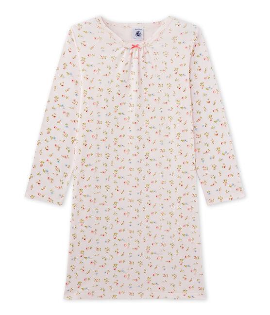 Chemise de nuit fille à imprimé petites fleurs roze Vienne / wit Multico