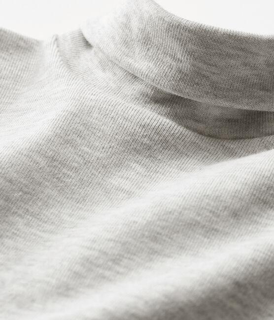 Body manches longues col roulé bébé mixte gris Beluga