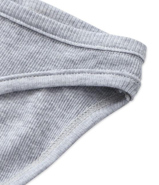 Damesslip in katoen grijs Fumee Chine