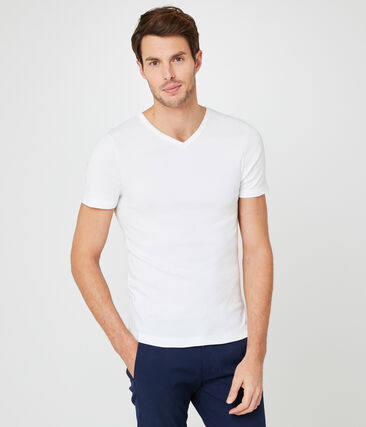 Tee-shirt manches courtes col V homme
