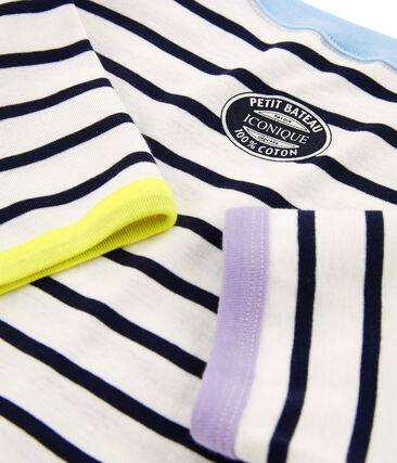 Iconisch damesshirt wit Marshmallow / blauw Smoking