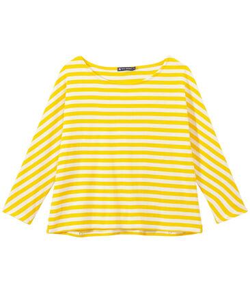 f2279ee6e3a2bb Dames-T-shirt met 3/4 mouwen en streepjes | Petit Bateau