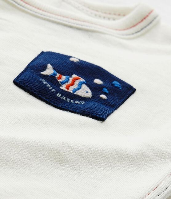 Effen T-shirt voor babyjongens wit Marshmallow