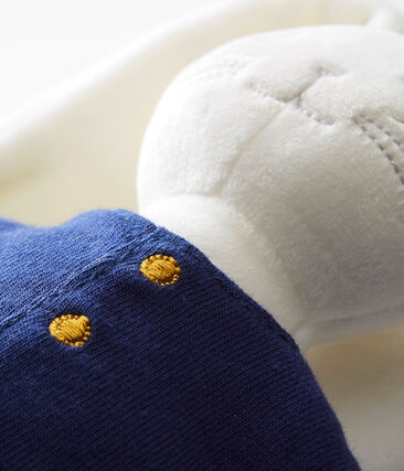 Doudou lapin marin blanc Marshmallow / bleu Smoking