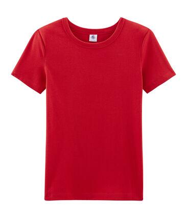 Iconisch T-shirt met korte mouwen vrouwen rood Terkuit