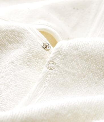 Cape de bain bébé en éponge blanc Marshmallow