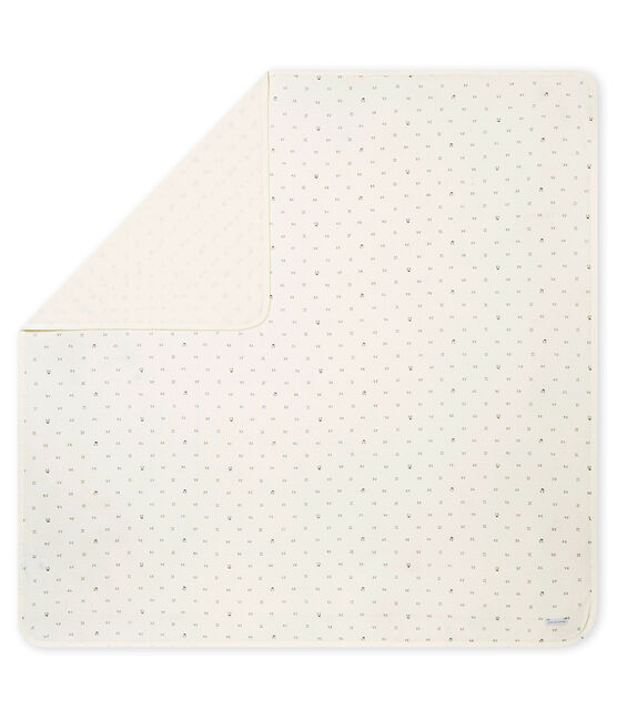 Uniseks laken in tubic met dessin wit Marshmallow / zwart Noir