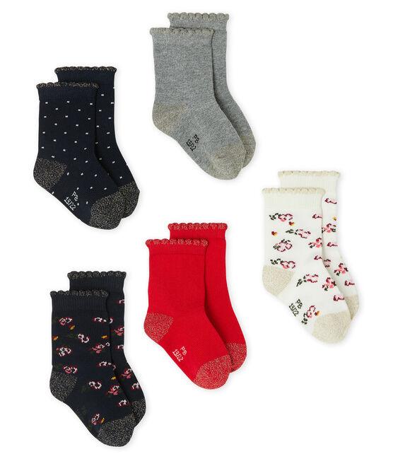 Set van 5 paar sokken voor baby meisje set .