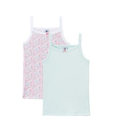 Set van 2 meisjeshemdjes met schouderbandjes