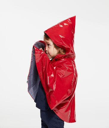Gelakte regencape babymeisje rood Terkuit