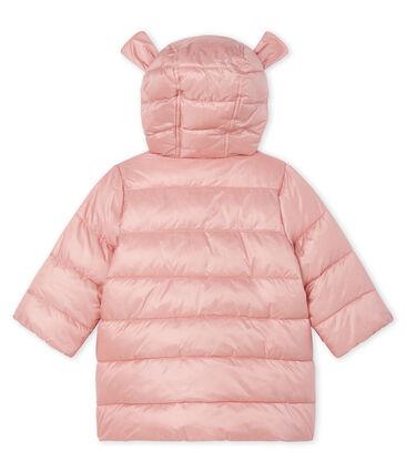 Donsjack van gesatineerde polyamide babymeisje