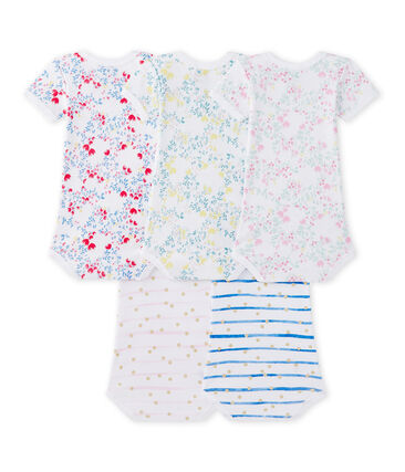 Set van 5 body's met korte mouwen voor babymeisjes