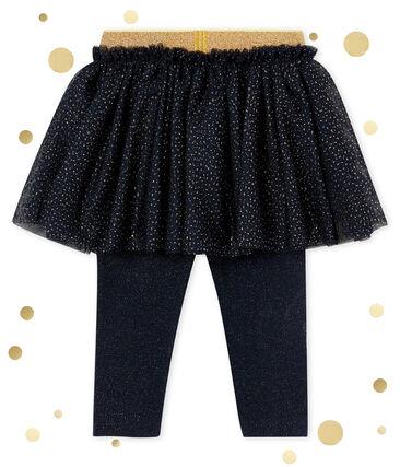 Rok-met-legging voor babymeisjes blauw Smoking / geel Dore