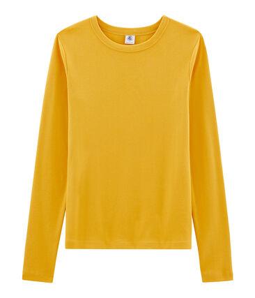 Iconisch T-shirt lange mouwen vrouwen geel Boudor