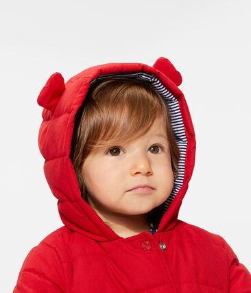 Donsjack van microvezel babymeisje rood Terkuit