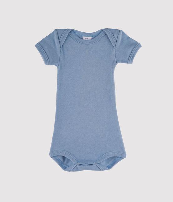 Rompertje met korte mouwen babyjongen blauw Acier