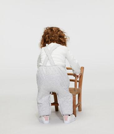 Lange salopette babymeisje van gewatteerd tubic