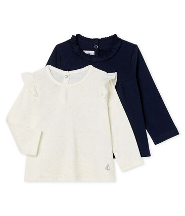 Set van 2 T-shirts met lange mouwen babymeisje set .