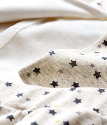 Set van drie items babyjongen van wol en katoen beige Montelimar / wit Multico