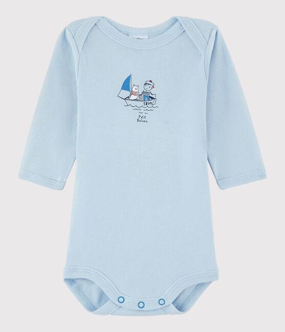 Body manches longues bébé garçon bleu Fraicheur