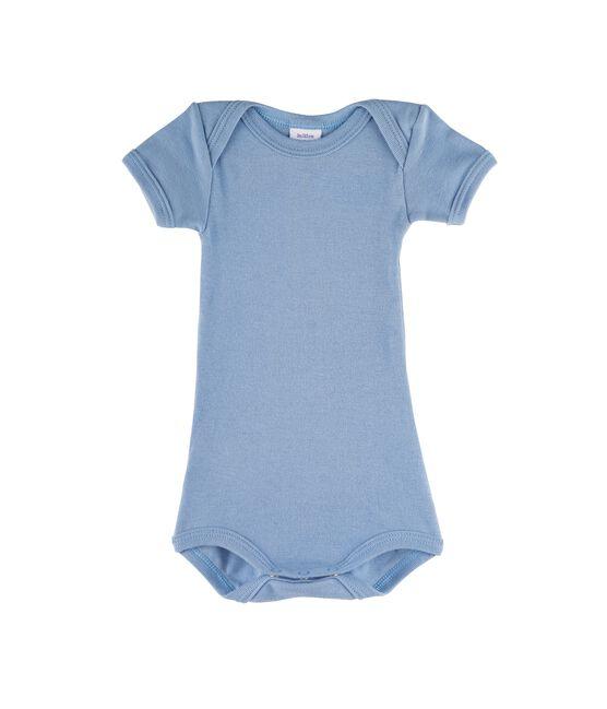 Body manches courtes bébé garçon bleu Acier