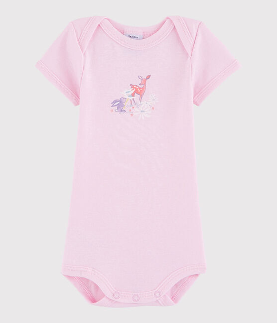 Body manches courtes bébé fille-garçon rose Doll
