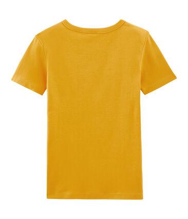 Iconisch T-shirt met korte mouwen vrouwen geel Boudor