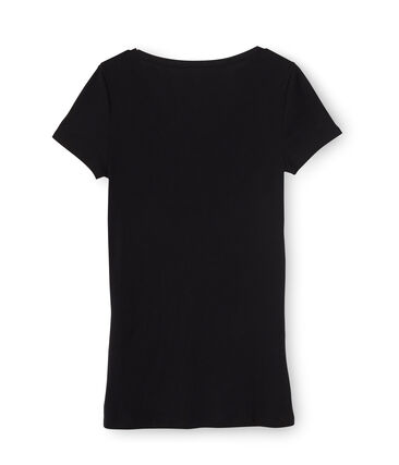 Tee-shirt manches courtes col V femme