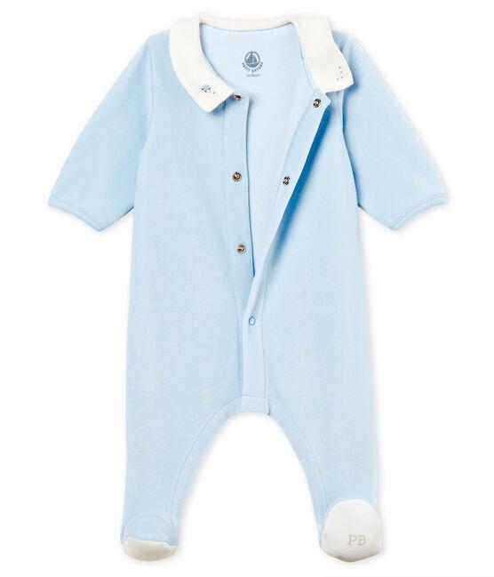Dors-bien bébé garçon en velours de coton uni FRAICHEUR